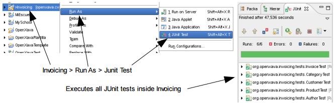 Openxava Testingen - Open invoice testing